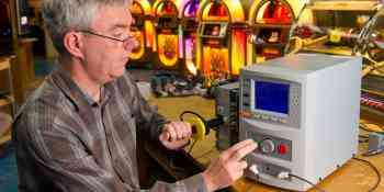 Clare rocks in testing at jukebox manufacturer