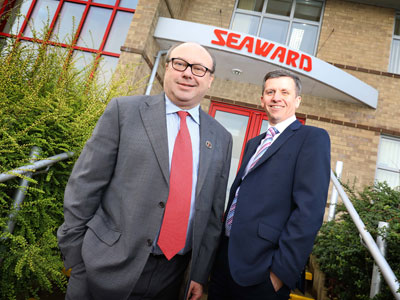 Grahame Morris MP with Andrew Upton at Seaward